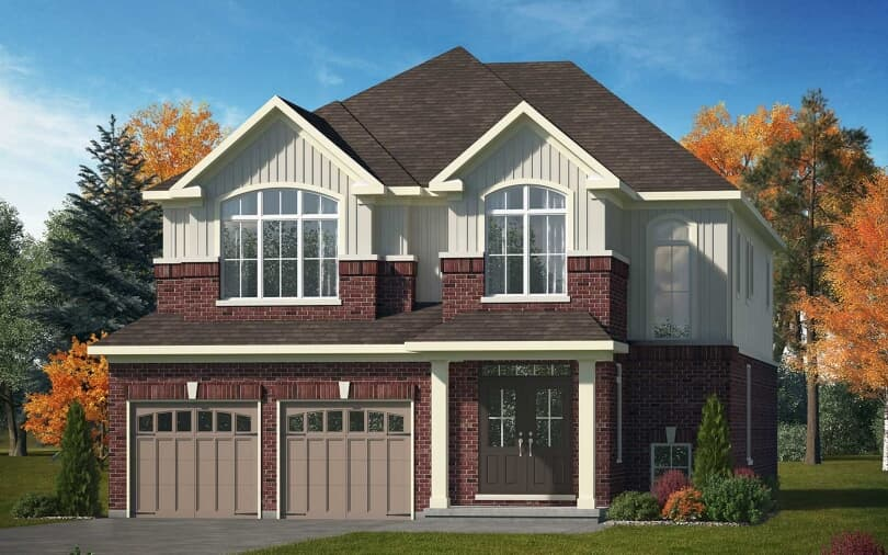 Yellowstone Style A New Home Exterior | Pinehurst in Paris, Ontario | Brookfield Residential