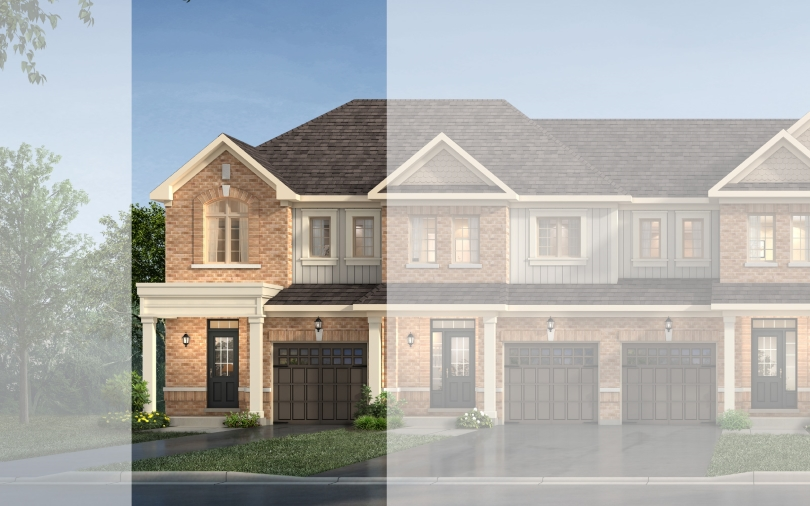 Highbury Style New Home Exterior | Willow Glen in Tottenham, Ontario | Brookfield Residential