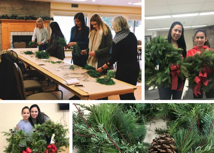 DIY Holiday Classes (Wreath-Making) at Pathways in Caledon East and Fieldstone in Mono