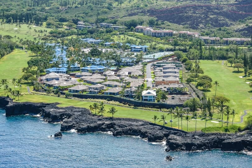 Aerial View of the New Homes at Holua Kai at Keahou Kailua Kona Hawaii Brookfield Residential