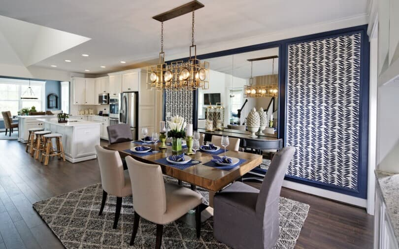 Dining room in the Cresswell at Two Rivers in Odenton, MD