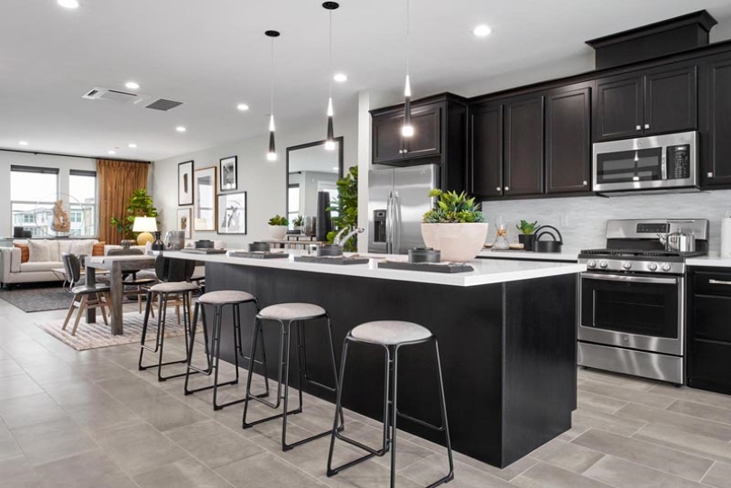 Fillmore Kitchen to Living Room Area Boulevard in Dublin California Brookfield Residential