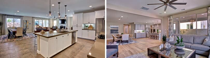 L: Kitchen; R: Great Room | Agave at Spencer's Crossing | Murietta, CA | Brookfield Residential