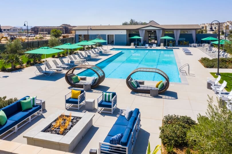Emerald Park Pool New Haven in Ontario Ranch CA Brookfield Residential