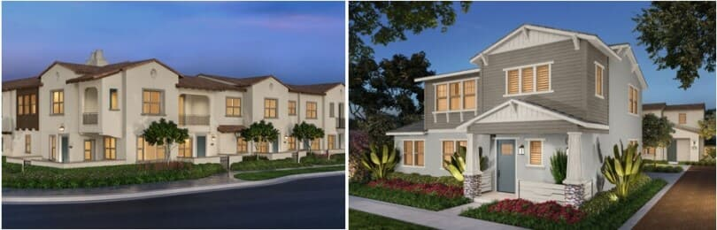 L; bayberry-at-the-groves R; stella-at-the-groves-whittier-california-brookfield-residential-810x260