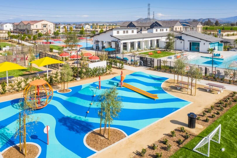 Rec center and playground at Canvas Park at New Haven in Ontario Ranch, CA