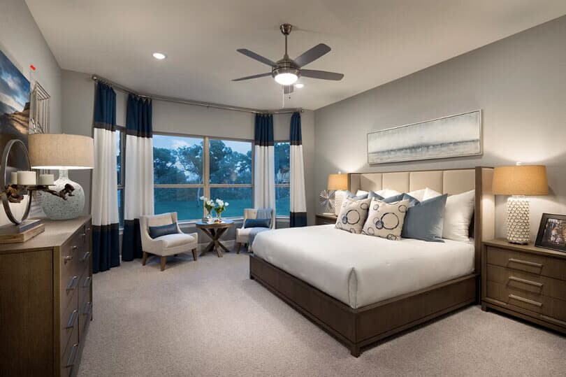 Bedroom I Highland Terrace at Rough Hollow in Lakewood, TX | Brookfield Residential