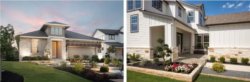 Left: Lawrence Exterior; Right: Williams Exterior | Provence | Austin, Texas