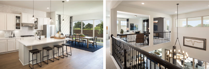 Left: Williams Kitchen; Right: Williams Upstairs | Provence | Austin, Texas
