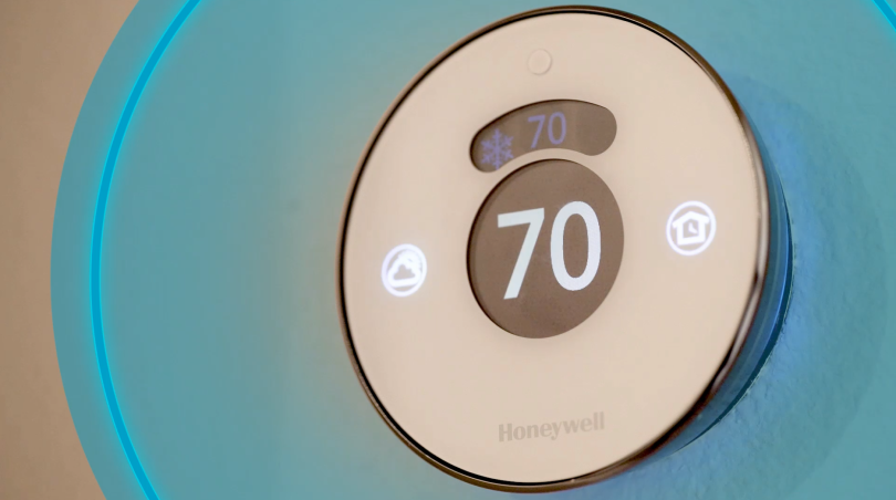 myCommand Thermostat in a smart home in Snowden Bridge in Winchester, VA by Brookfield Residential