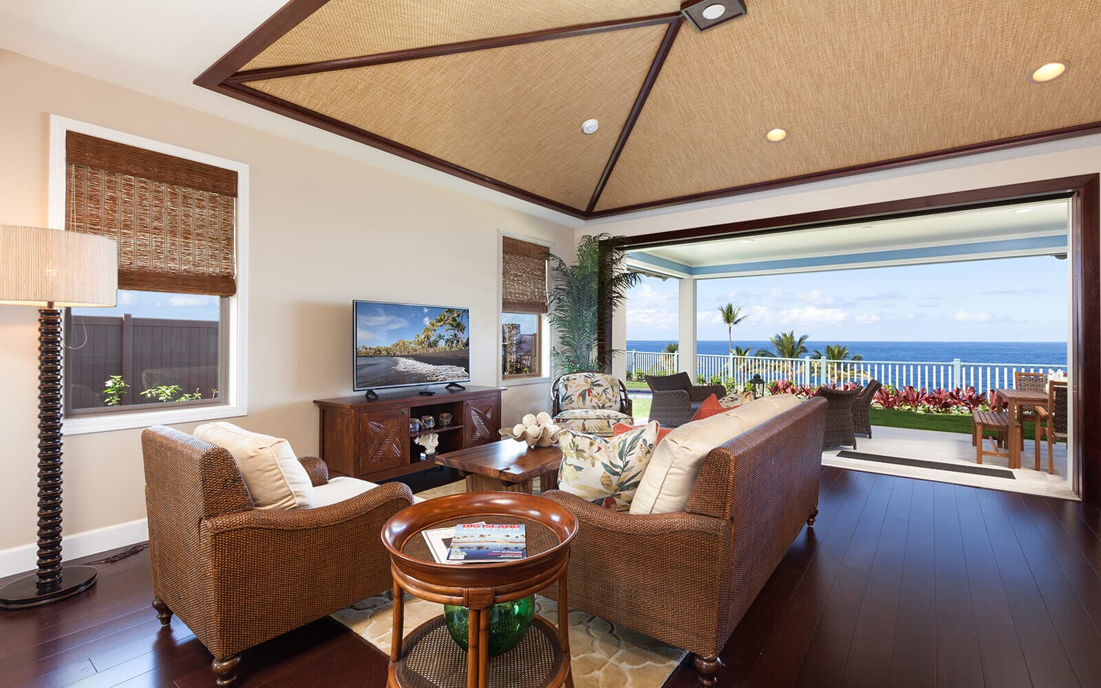 living room ocean view plan 2 holua kai at keauhou brookfield residential