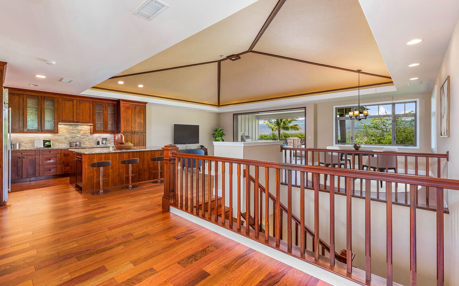 great-room-stairs-mahina-plan-4-kamilo-at-mauna-lani-big-island-brookfield-residential