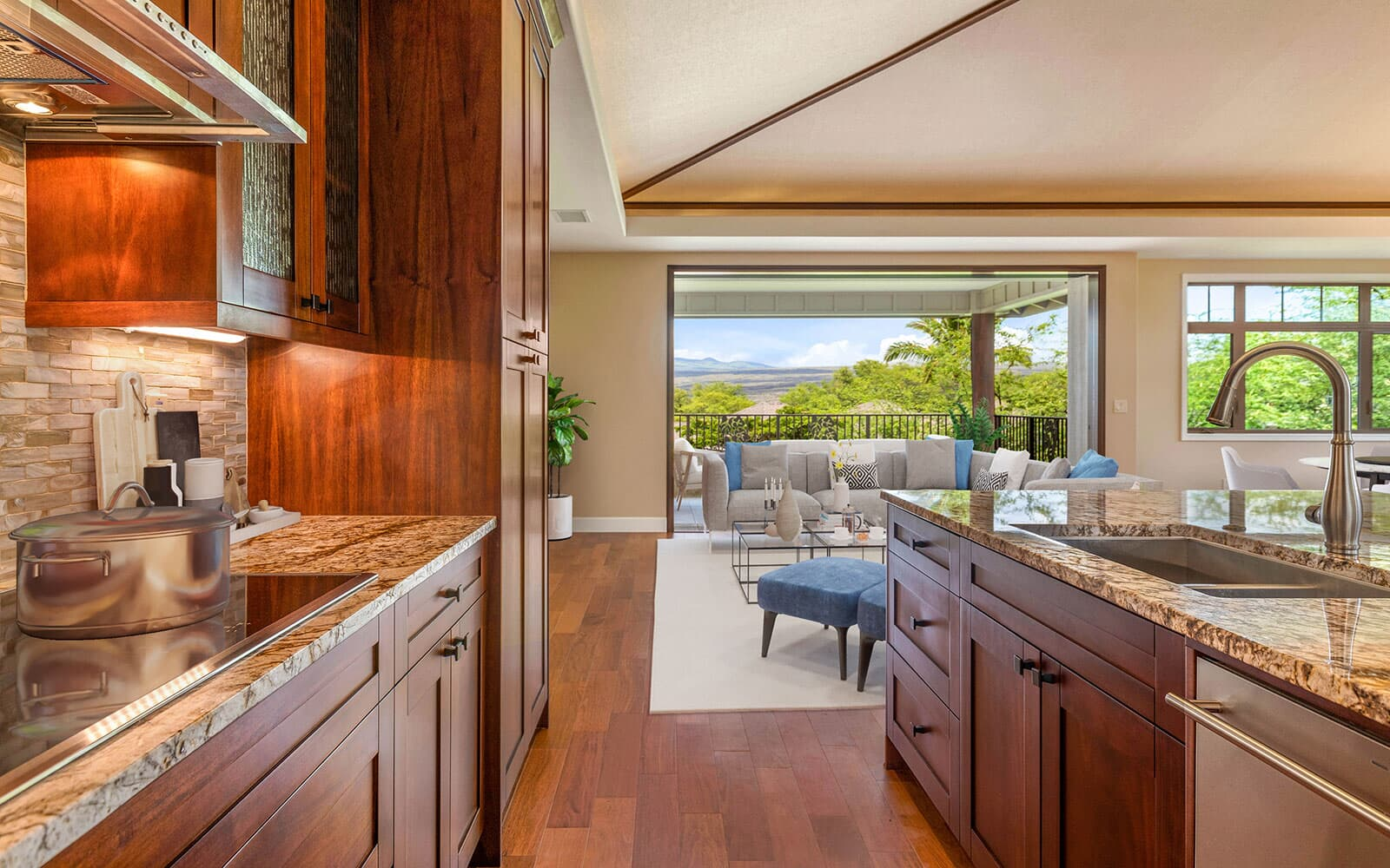 kitchen-living-room-lanai-mahina-plan-4-kamilo-at-mauna-lani-big-island-brookfield-residential