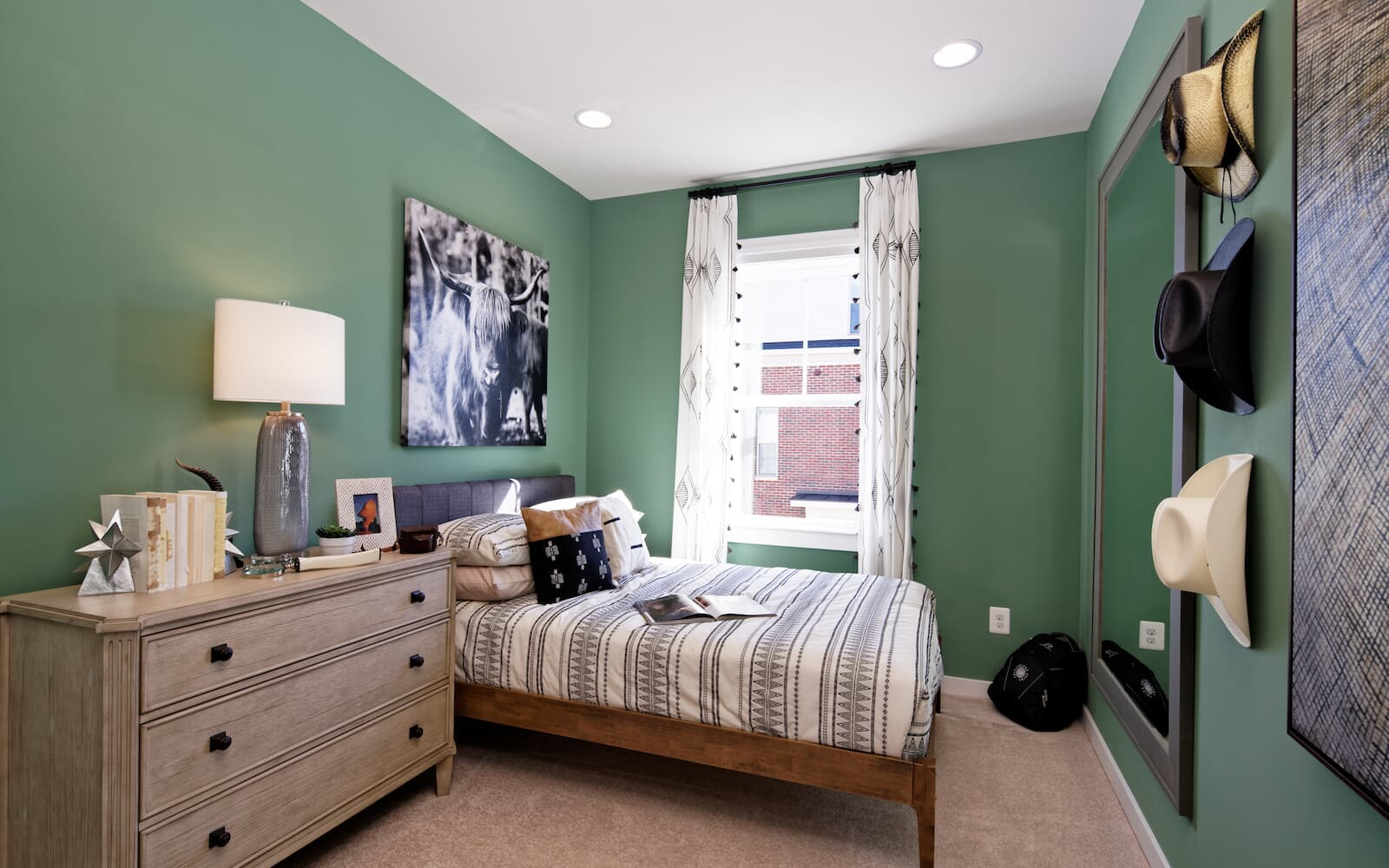 A secondary bedroom in the Magnolia offered at Bradford s Landing in Silver Spring MD