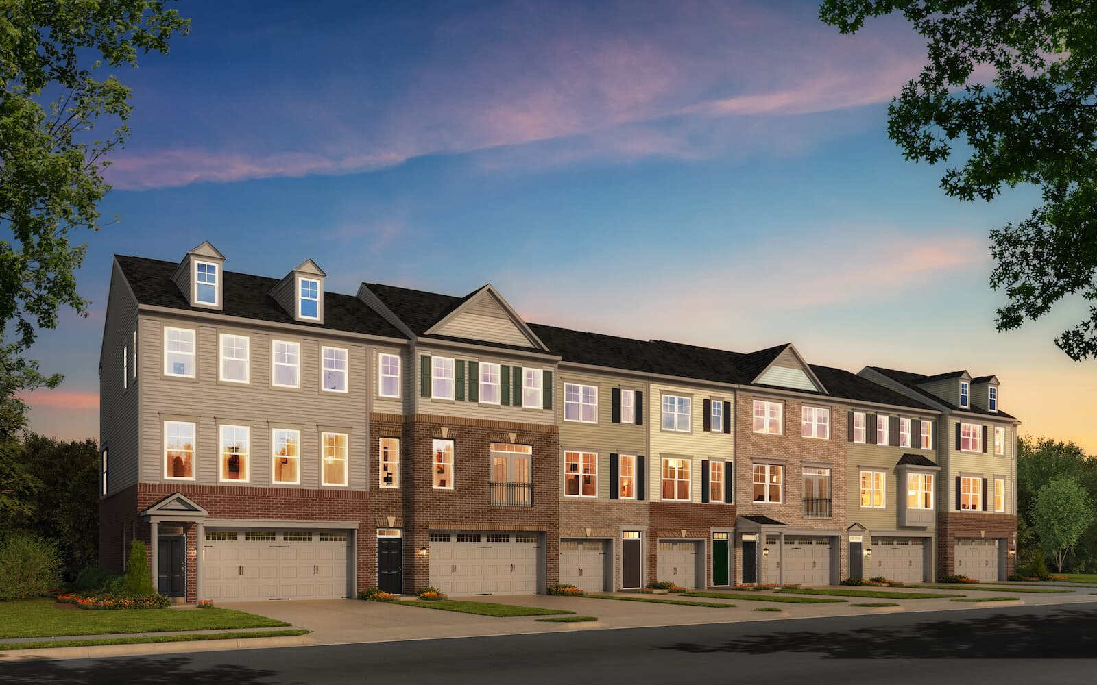 Orion-exterior-rendering-townhomes-silver-spring-md-bradfords-landing-brookfield-residential