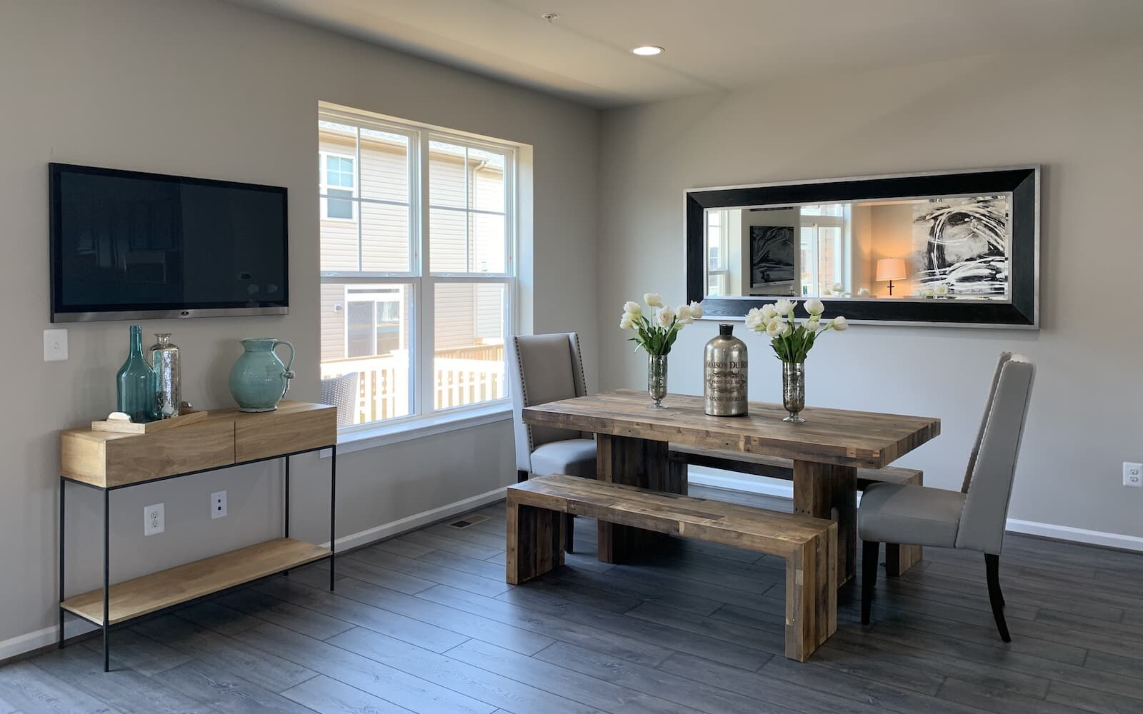 A dining room in the Orion by Brookfield Residential.