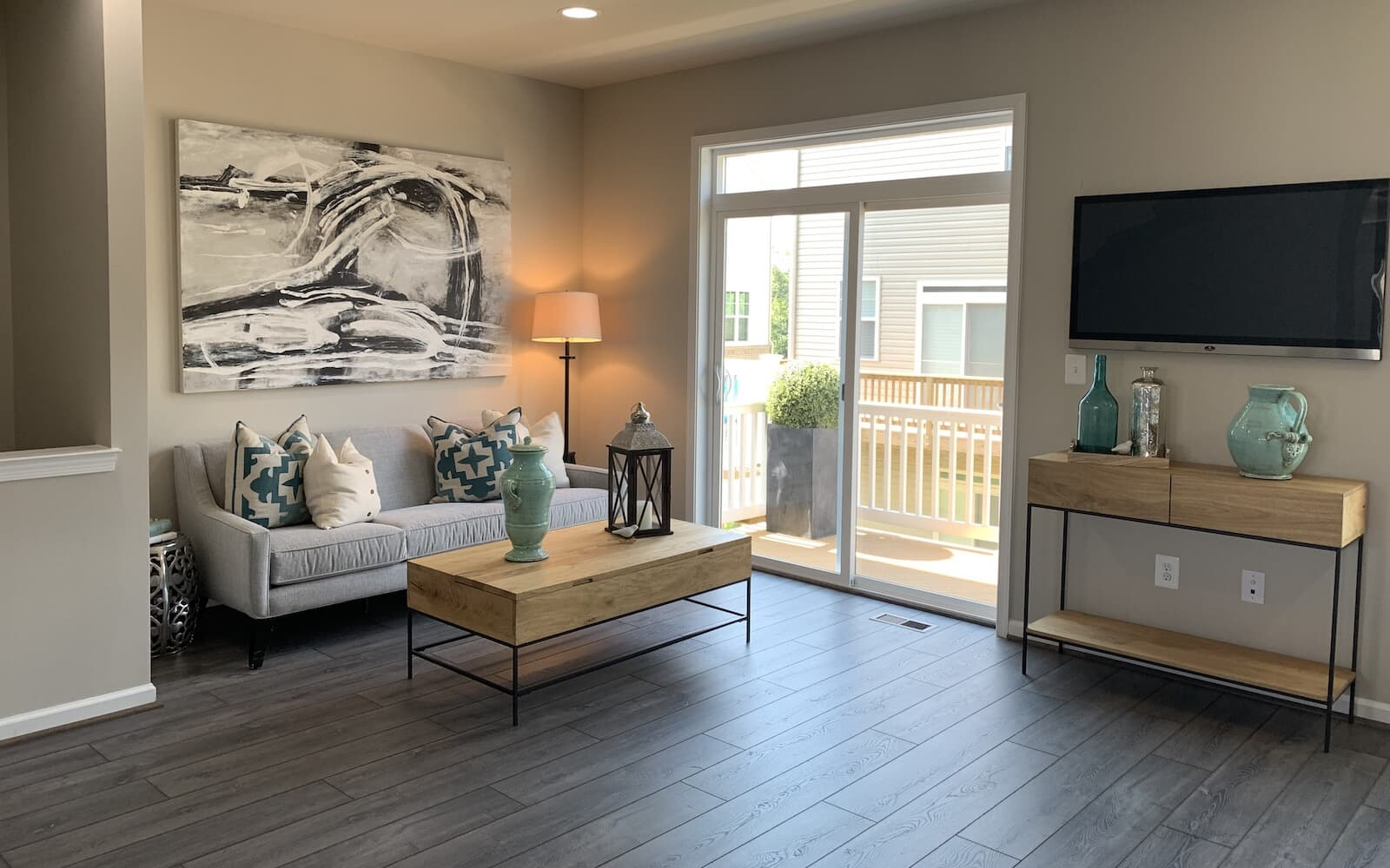 The living room in the Orion by Brookfield Residential.