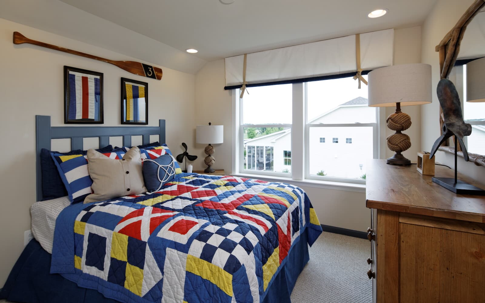 A secondary bedroom at the Bridgeport II at Easton Village by Brookfield Residential