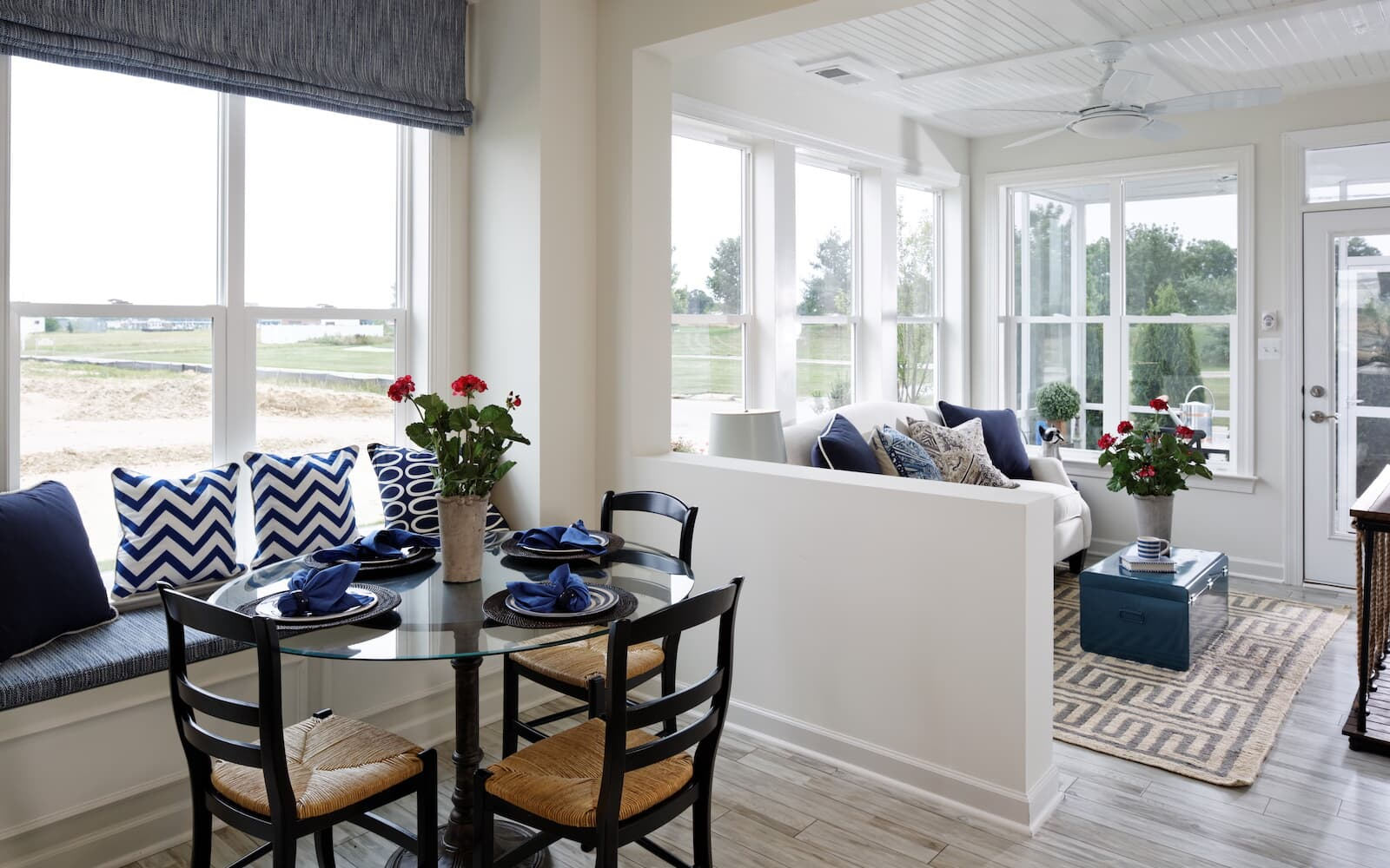 The breakfast room at the Bridgeport II at Easton Village by Brookfield Residential