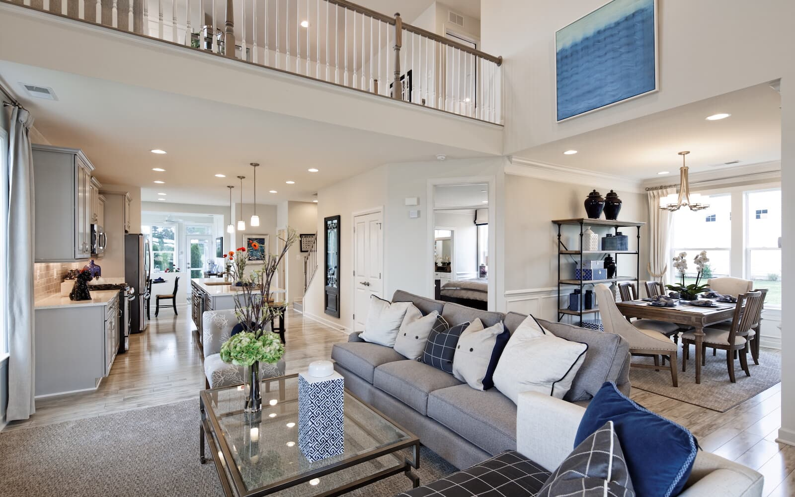 The living room of the Bridgeport II at Easton Village by Brookfield Residential