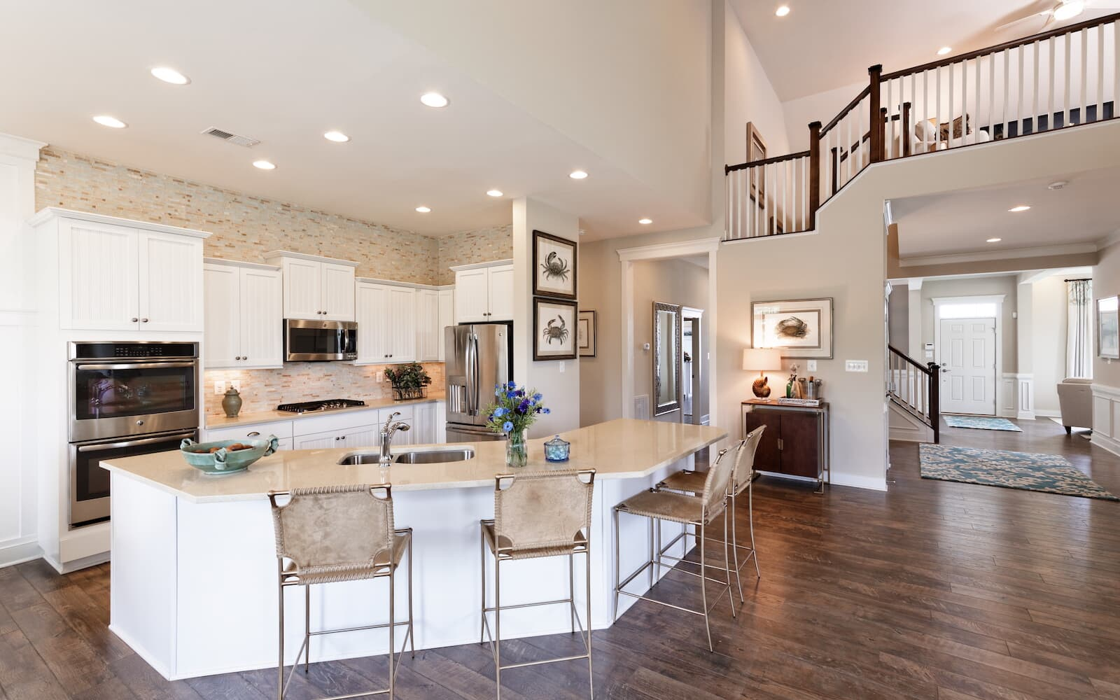 The kitchen in the Pearson by Brookfield Residential at Easton Village