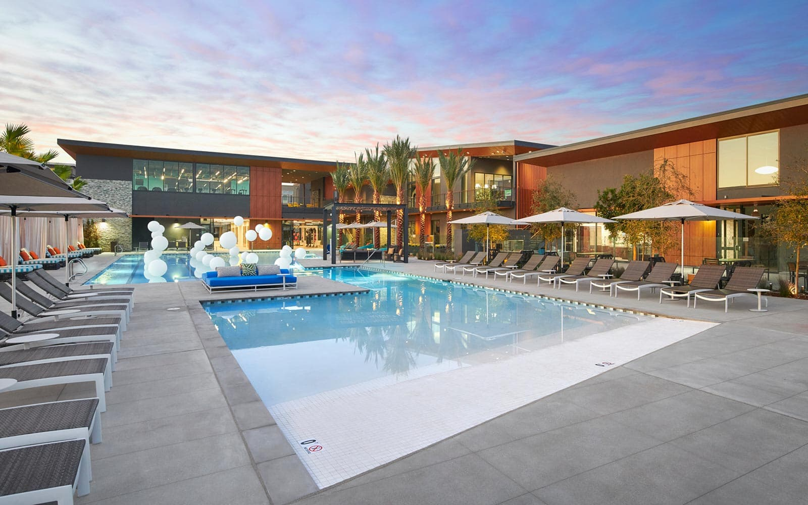 Rec center pool at Boulevard in Dublin, CA by Brookfield Residential