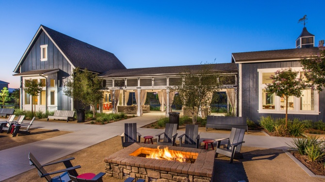 The Ranch House Firepit Audie Murphy Ranch in Menifee CA Brookfield Residential