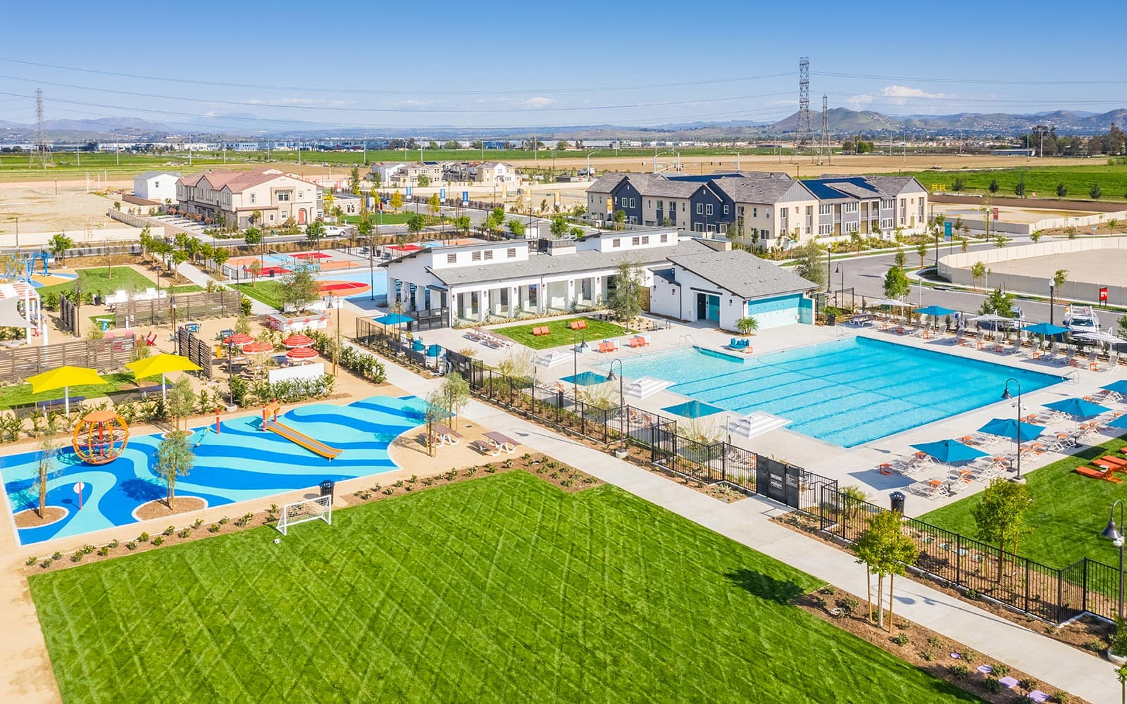 Aerial View of New Haven at Ontario Ranch in Ontario, CA by Brookfield Residential