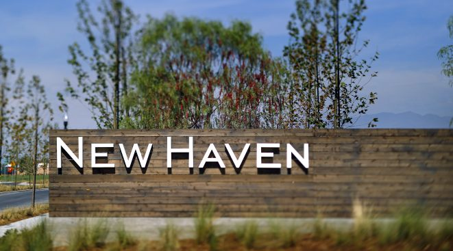 Outside sign | New Haven at Ontario Ranch in San Bernardino, CA | Brookfield Residential