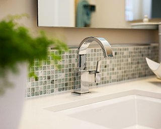 Bathroom faucet in Southern California Brookfield Residential