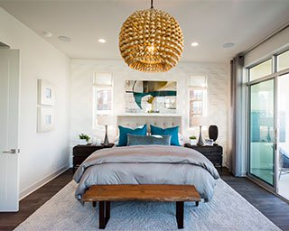 Luxury bedroom Marlowe at Playa Vista in Los Angeles CA Brookfield Residential