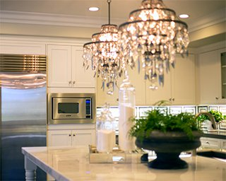 Luxury kitchen with island countertop in Southern California Brookfield Residential