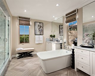 Master Bathroom La Vita at Orchard Hills in Irvine CA Brookfield Residential