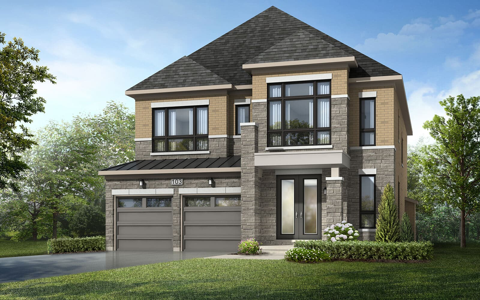 Exterior Jasper Style F Jasper at Woodhaven in Aurora Aurora ON Brookfield Residential
