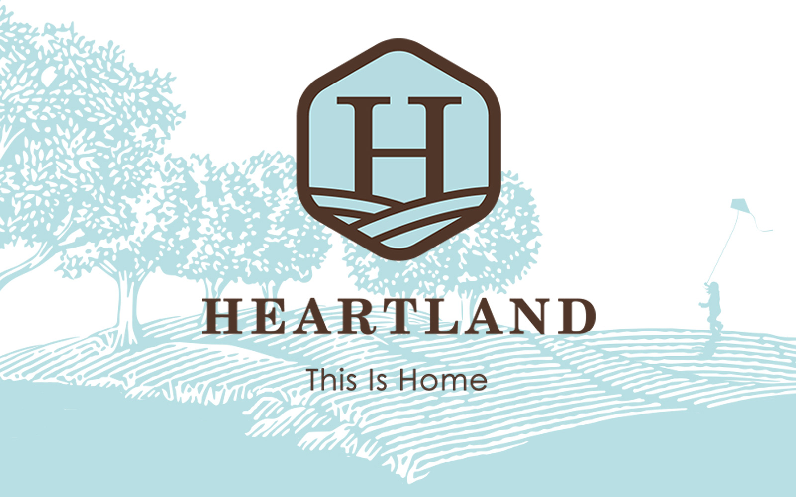 Heartland logo with illustration