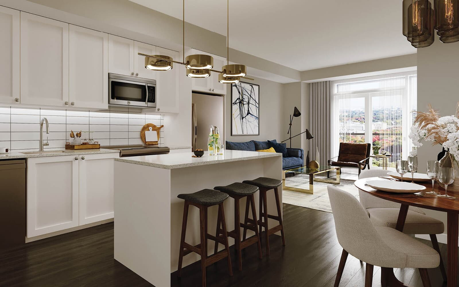 Kitchen Rendering at 50 Ann in Bolton, Ontario.