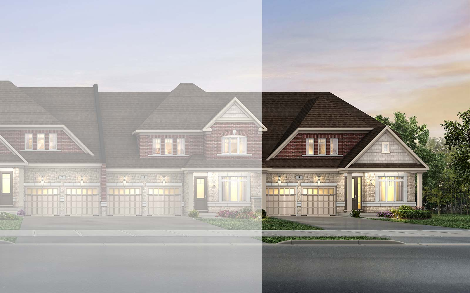 Exterior Bruce Style A End Bruce at Pathways in Caledon East Caledon ON Brookfield Residential
