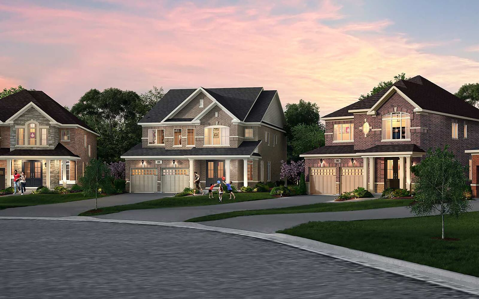 Streetscape-Caledon East-Pathways-Brookfield-Residential