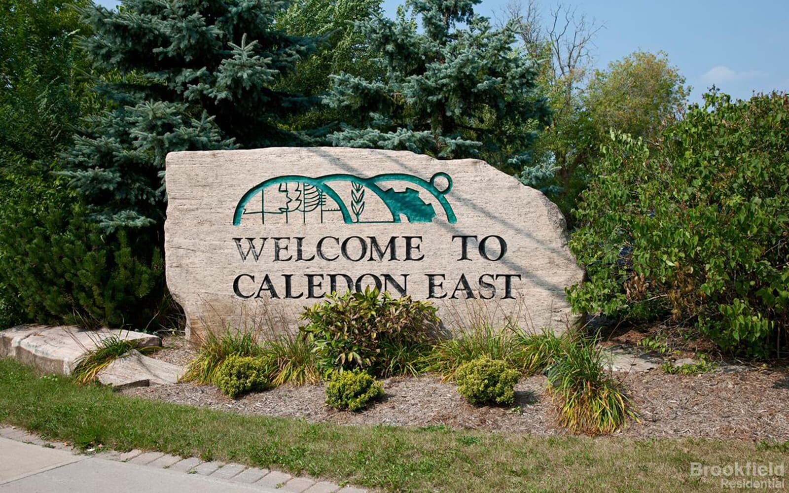Welcome to Caledon East engraved stone in Caledon East, ON