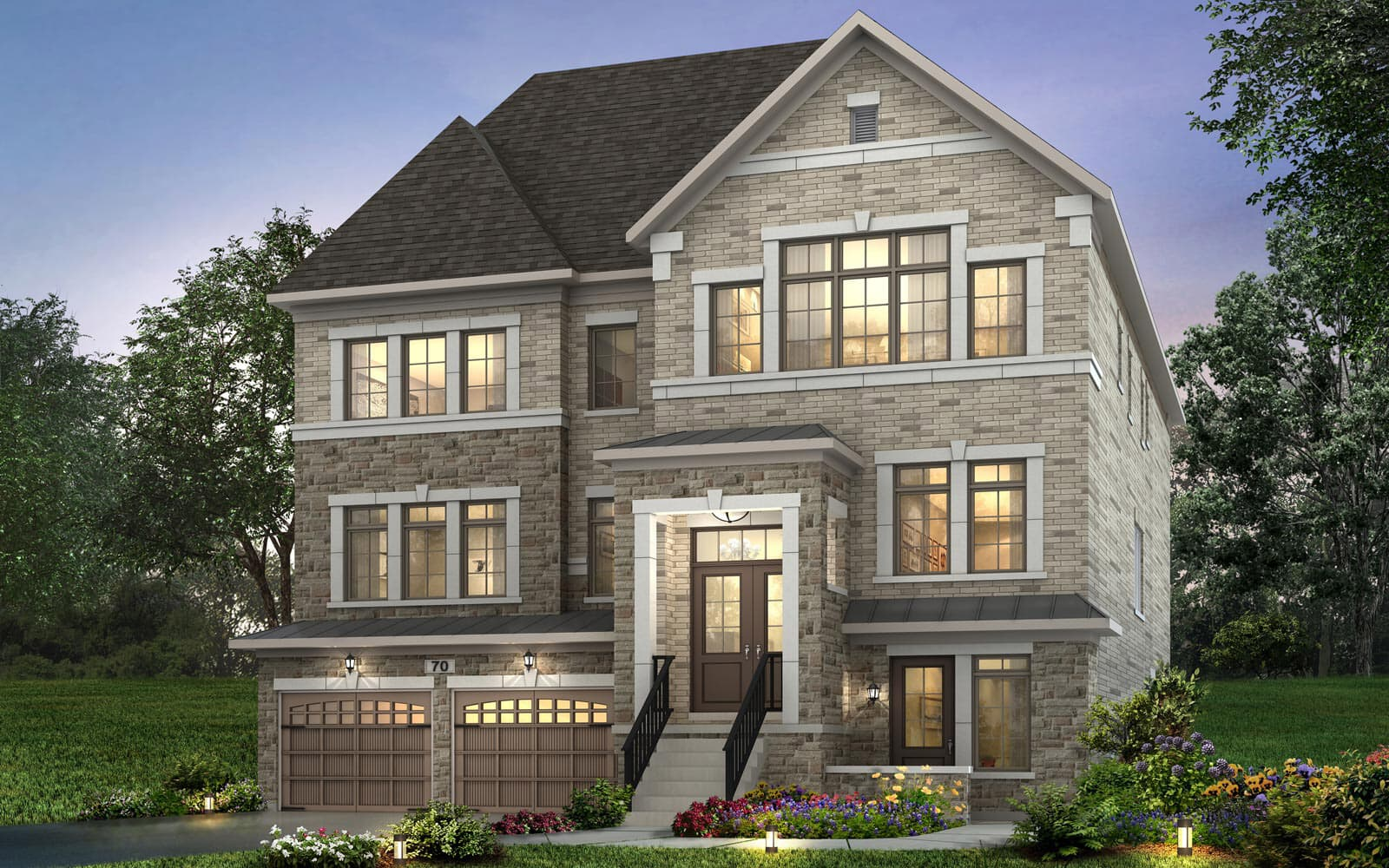 Exterior Fairford Style B Fairford at Pathways in Caledon East Caledon ON Brookfield Residential