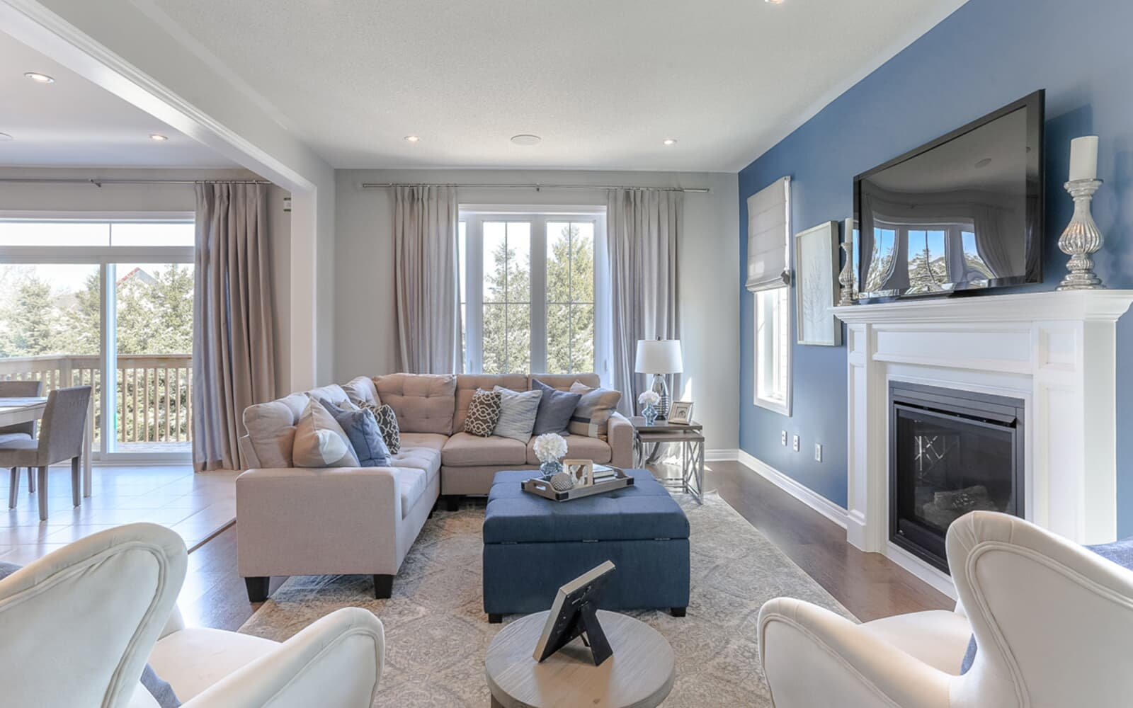 Living Room in Stewart Model Home at Pinehurst in Paris, ON