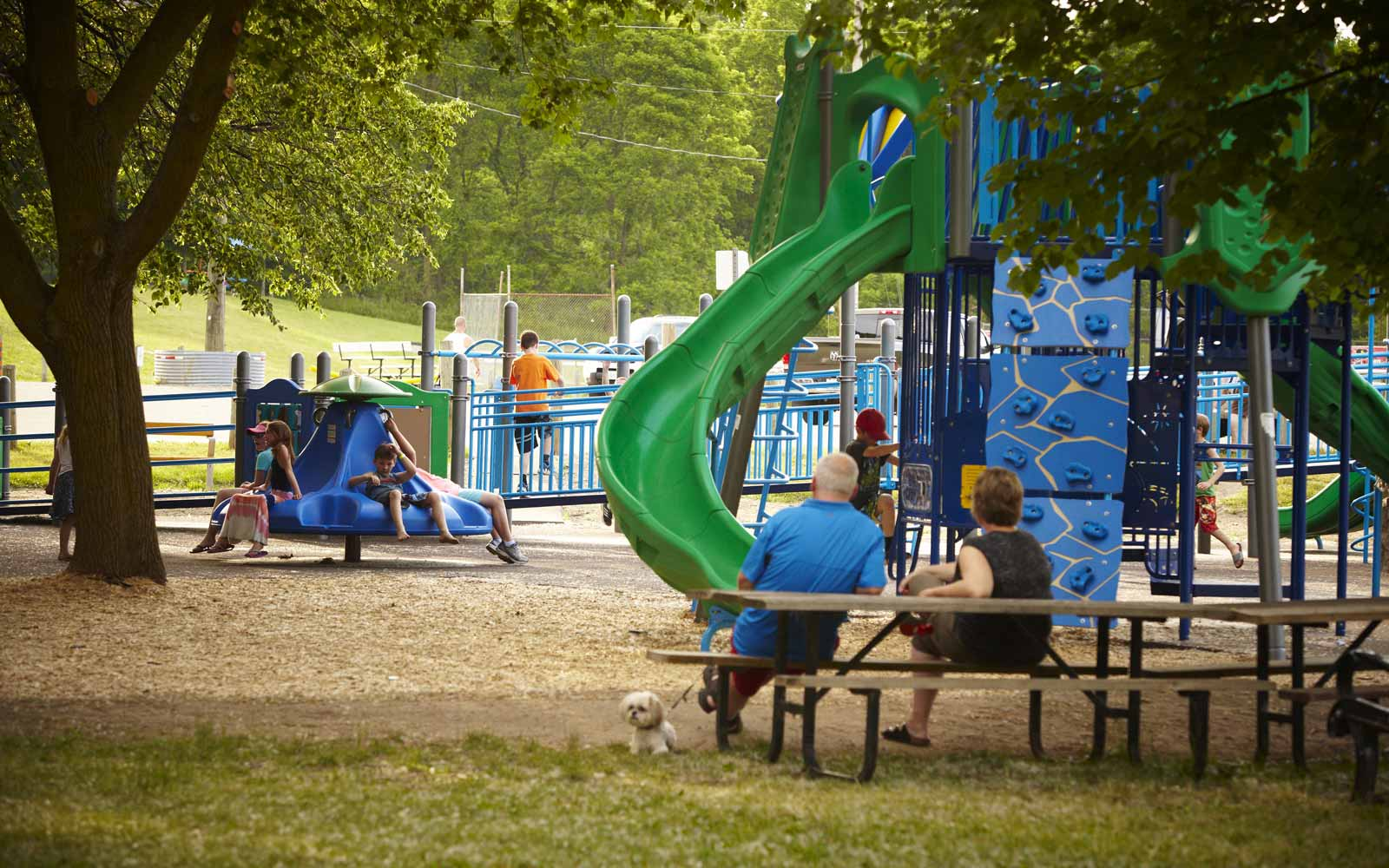 Children Playing in Lions Park in Paris, ON