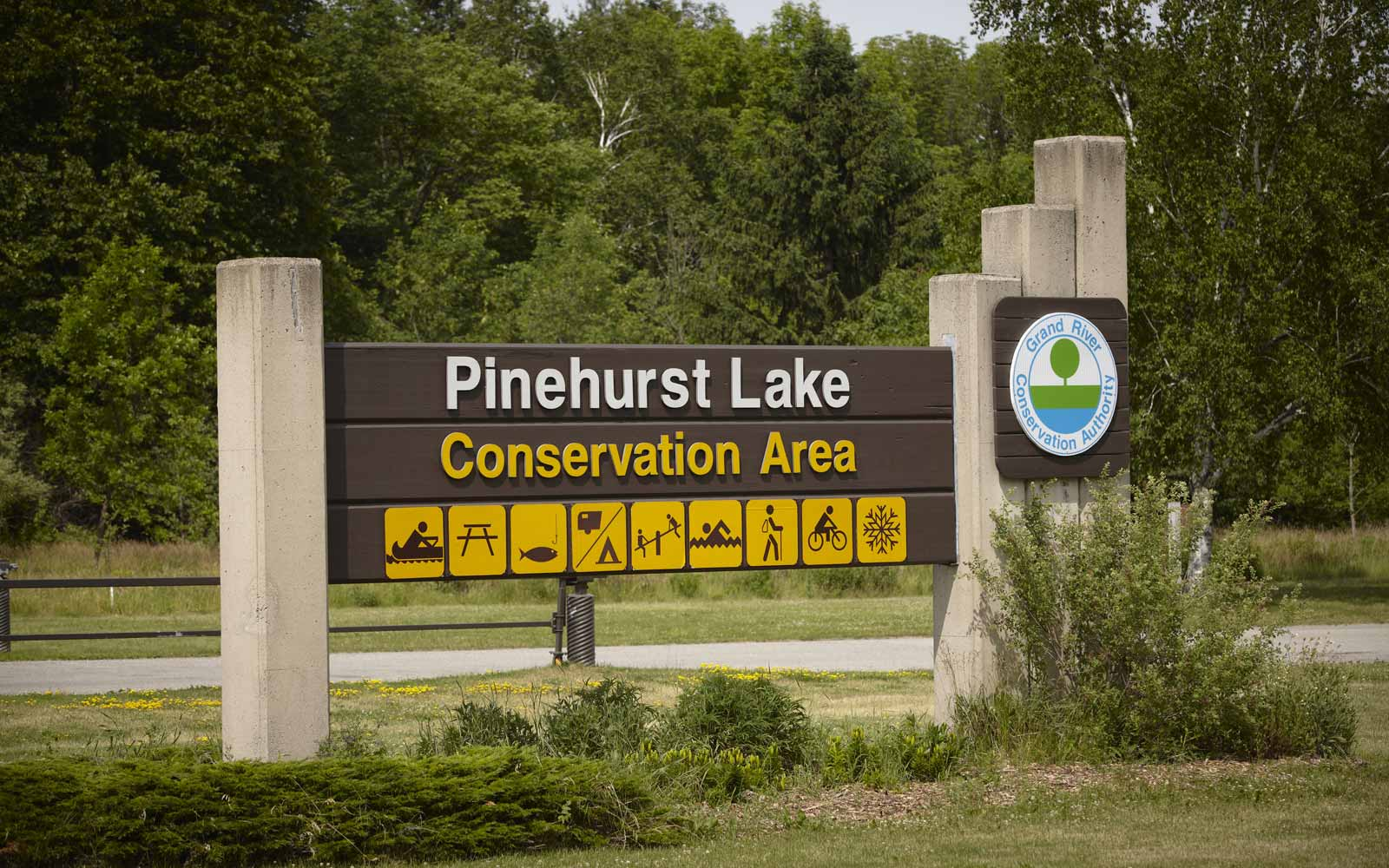 Pinehurst Conservation Area Sign at Pinehurst in Paris, ON