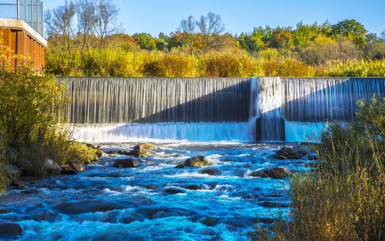 Whitevale Dam at New Seaton in Pickering, ON