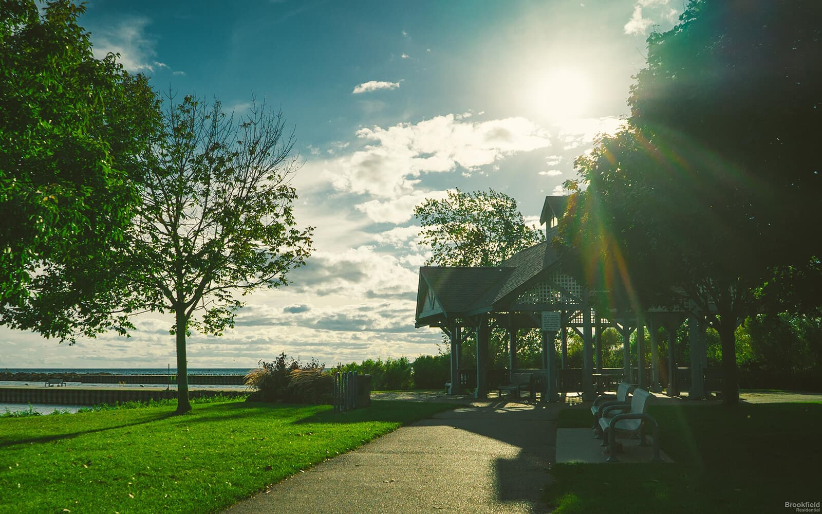 Lakeshore With Trees and Gazebo in Whitby, ON