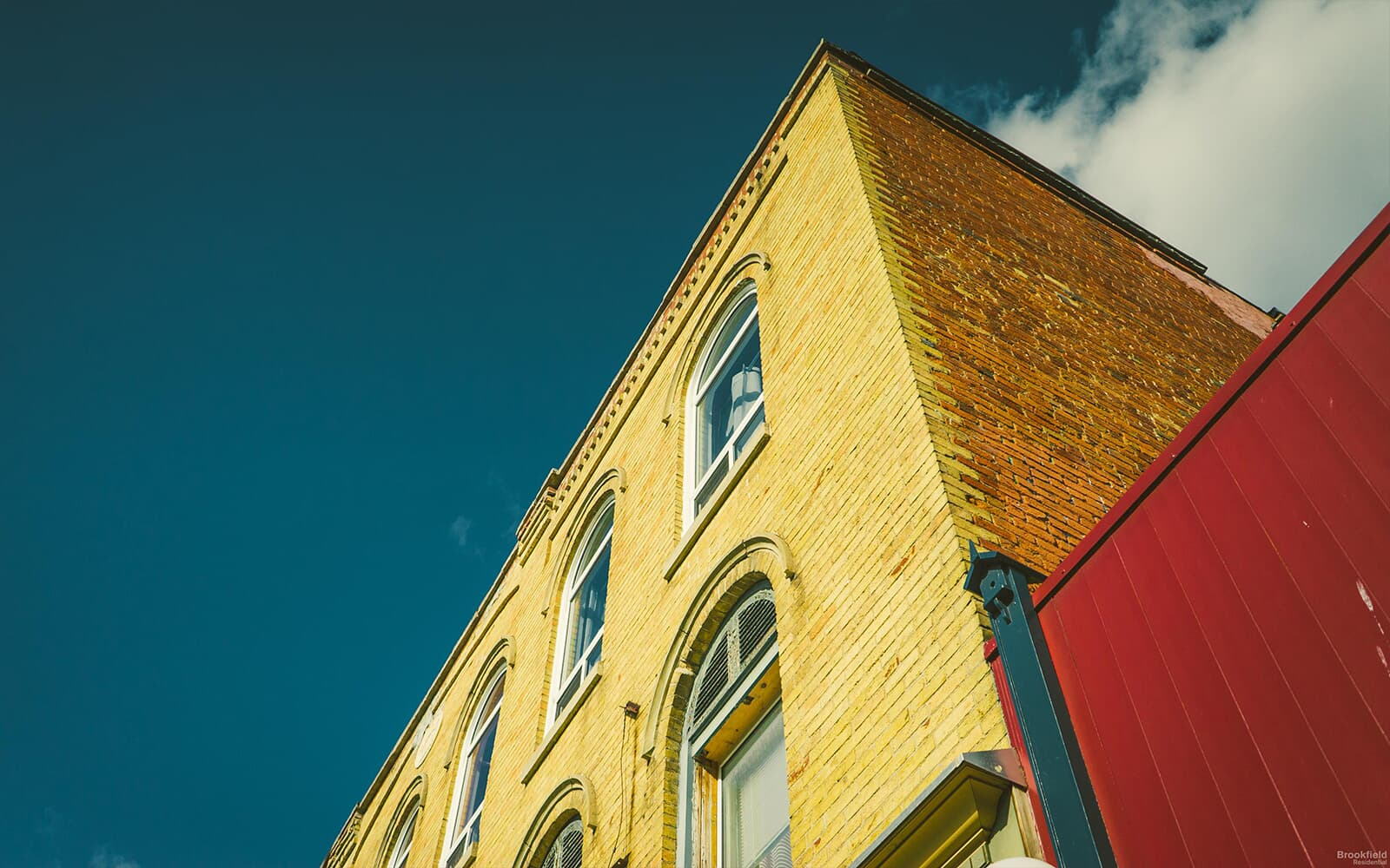 Yellow Brick Building in Whitby, ON