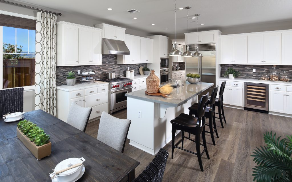 Kitchen and dining in luxury home | Mataro in Gilroy, CA | Brookfield Residential