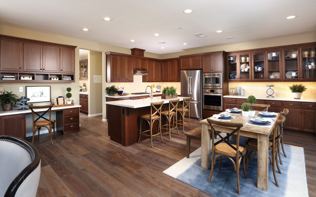 Dining and kitchen in luxury home | Merritt in Oakley, CA | Brookfield Residential
