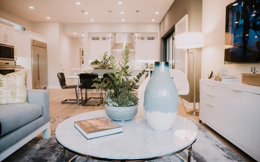 Living Room in a Connected Home | Brookfield Residential