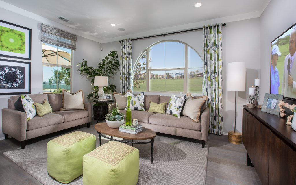 Living room in luxury home | Holiday at New Haven in Ontario Ranch, CA | Brookfield Residential